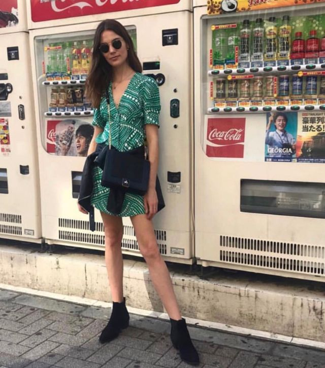 Cheap Sale Clearance Store Great Deals Sale Online Laura Printed Crepe Mini Dress - Jade Rixo London Limited Edition Outlet Newest Sale Very Cheap vGc0CH