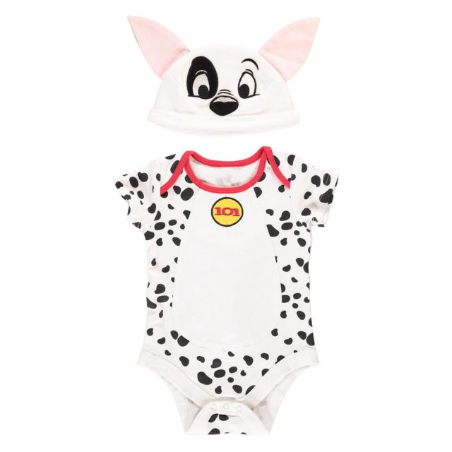 1079c340176 Disney 101 Dalmatians Patch Jersey Bodysuit with Hat 9 - 12 months ...