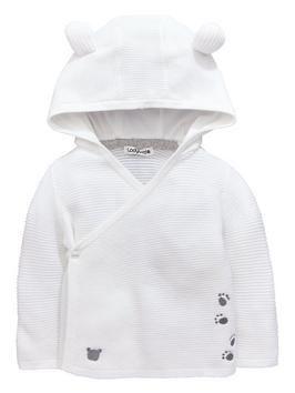 b6ad498da82d Ladybird Baby Unisex Bear Hooded Wrap Cardigan